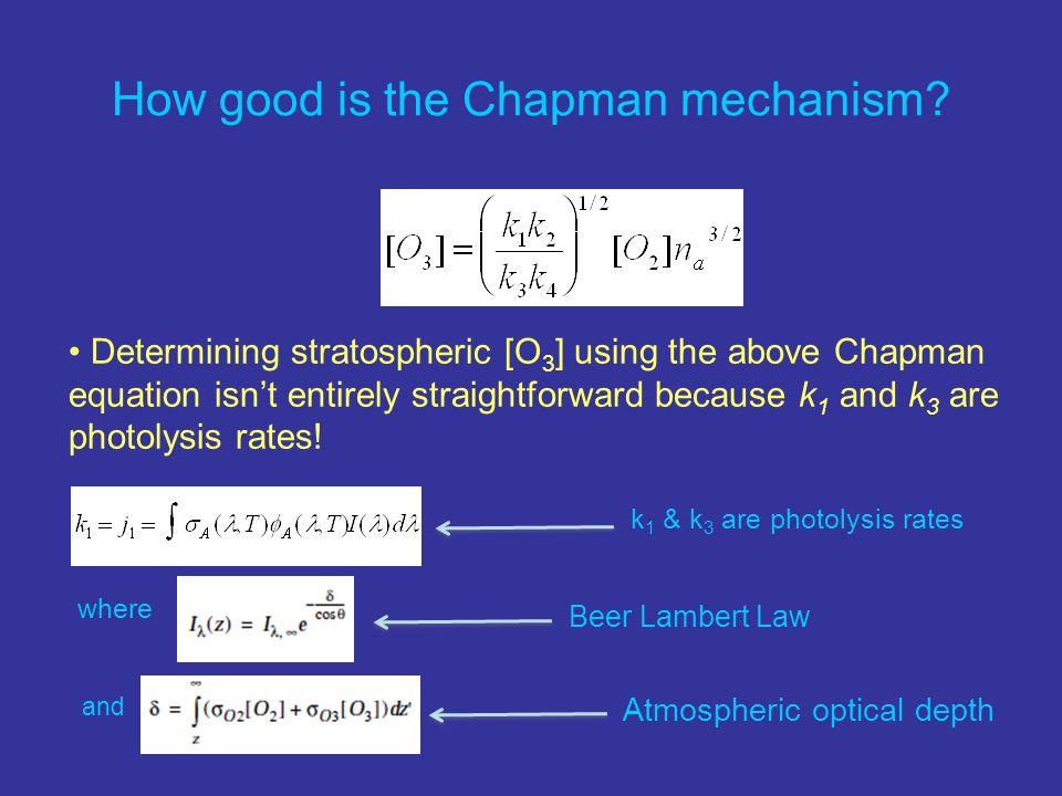 How good is the Chapman mechanism