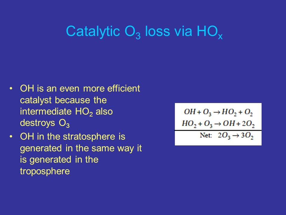 Catalytic O3 loss via HOx