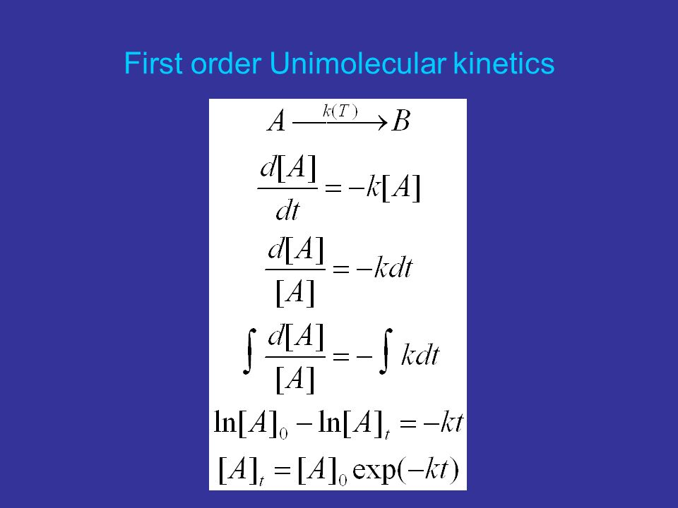 First order Unimolecular kinetics