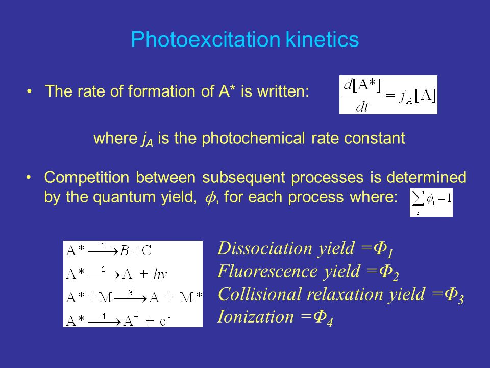 Photoexcitation kinetics