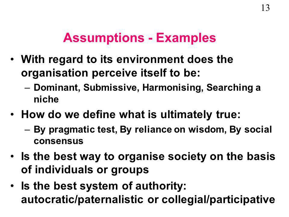 Assumptions - Examples