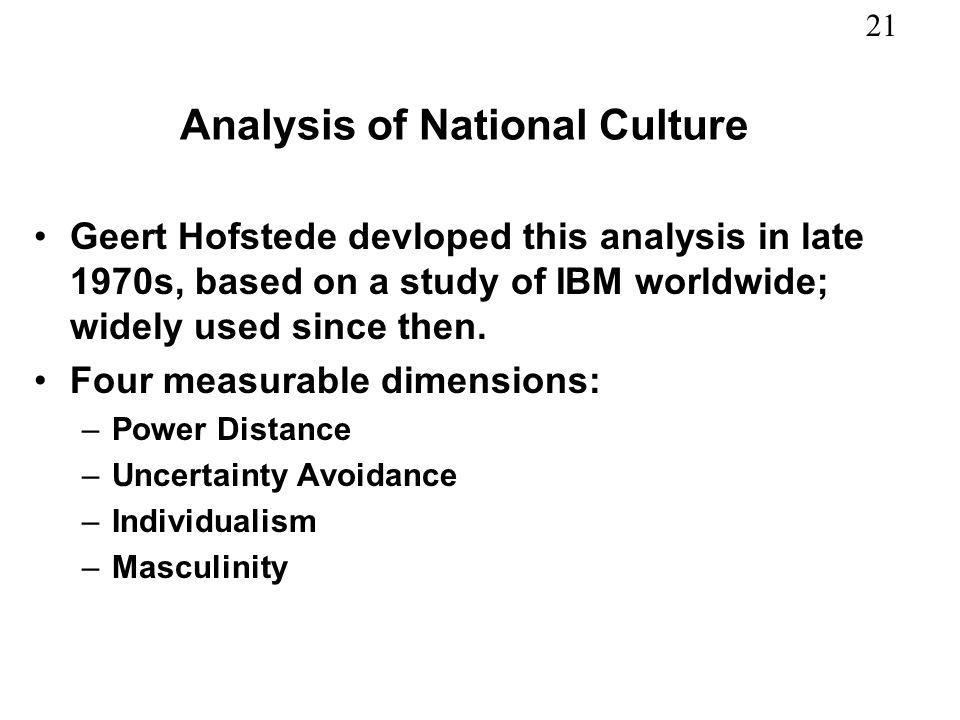 Analysis of National Culture
