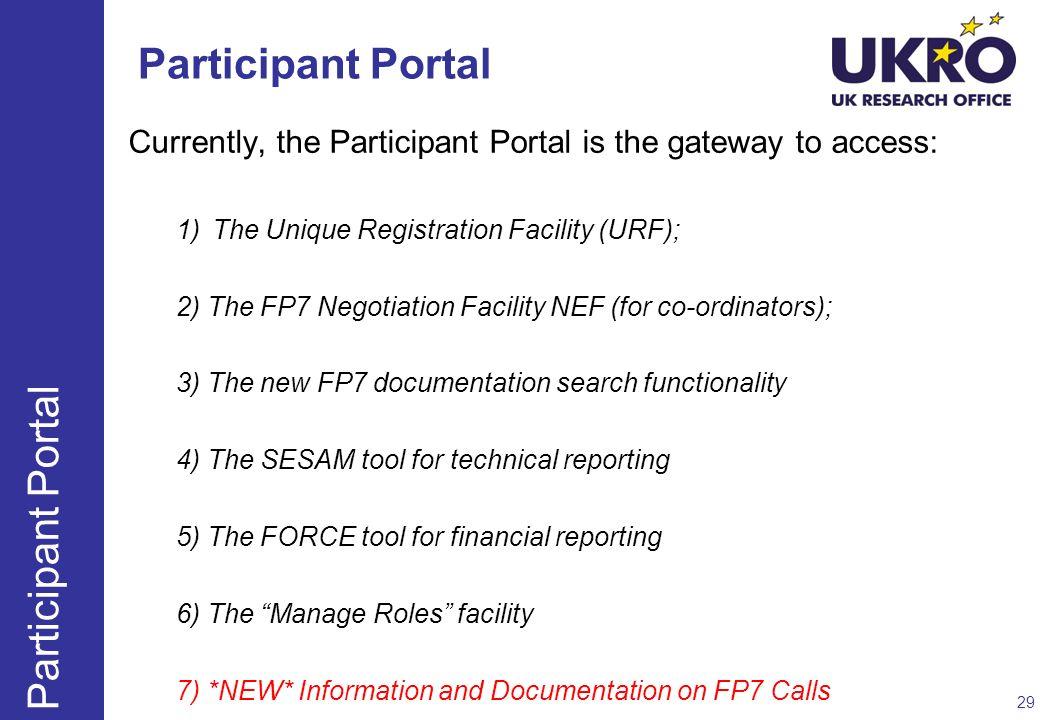 Participant Portal Participant Portal