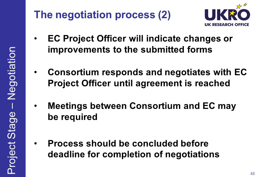 The negotiation process (2)