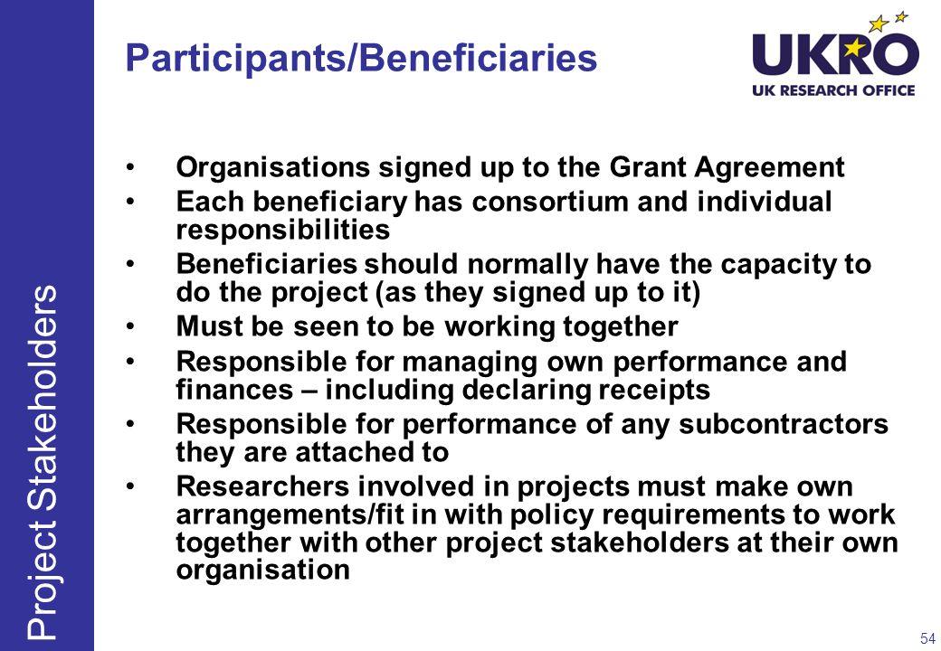 Participants/Beneficiaries