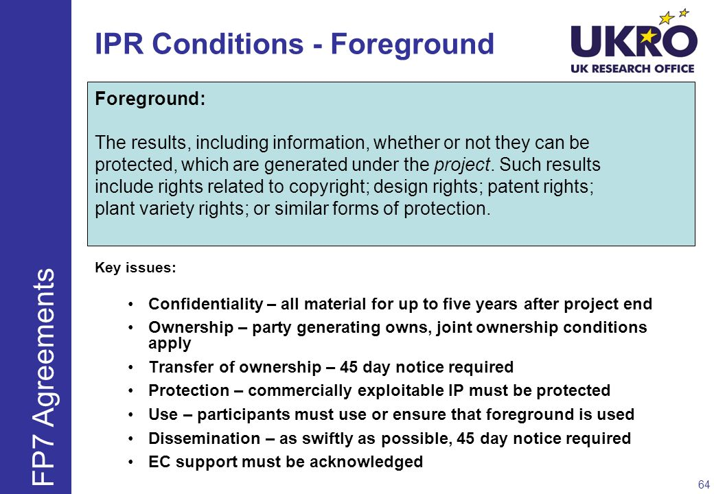 IPR Conditions - Foreground