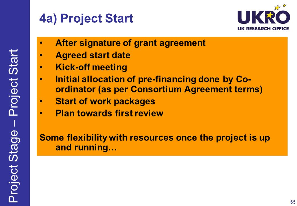 Project Stage – Project Start