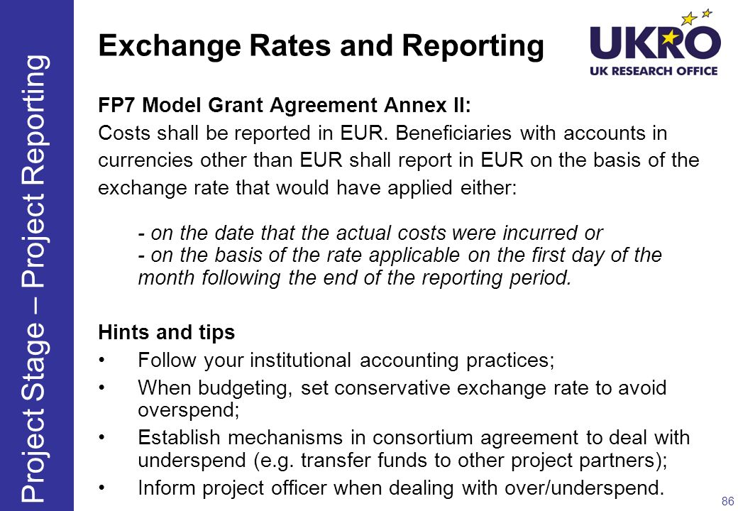 Exchange Rates and Reporting