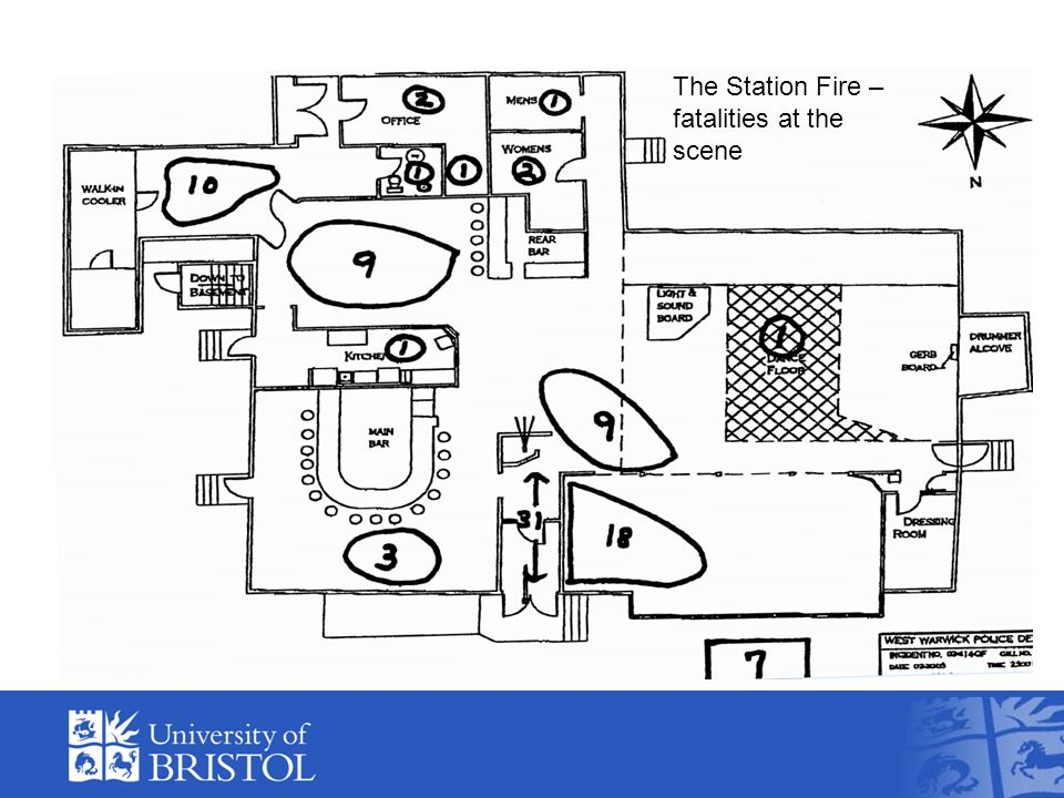 The Station Fire – fatalities at the scene