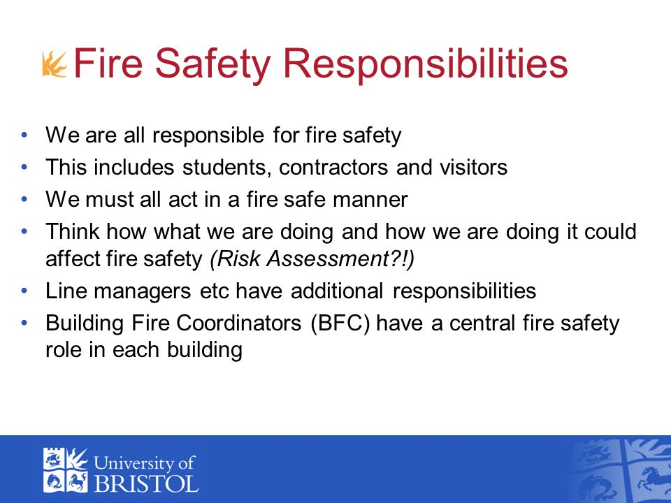 Fire Safety Responsibilities