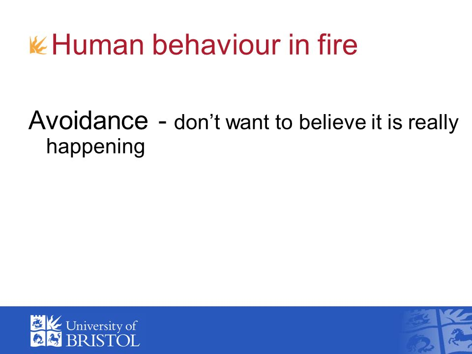 Human behaviour in fire