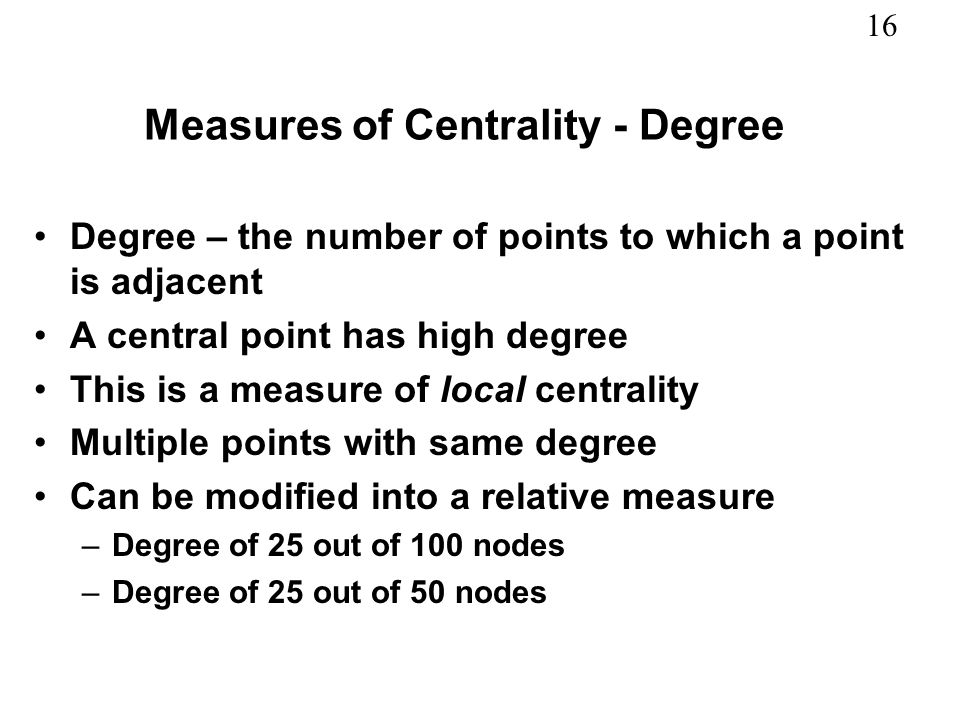 Measures of Centrality - Degree