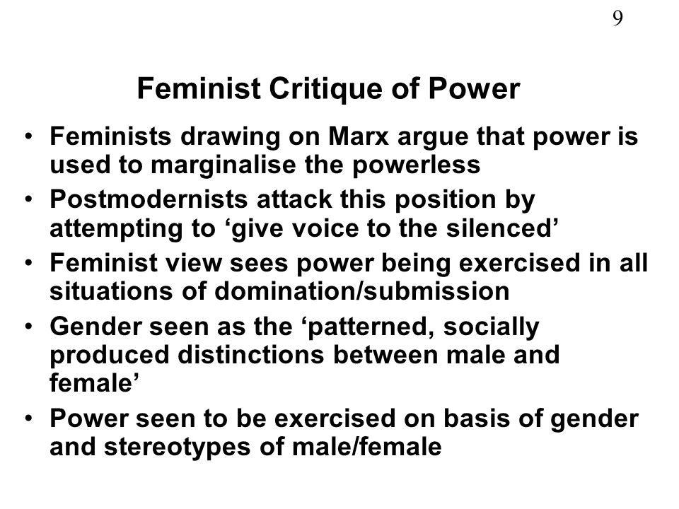 Feminist Critique of Power