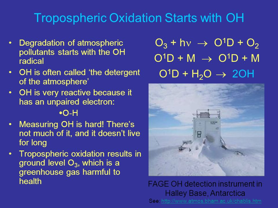 Tropospheric Oxidation Starts with OH