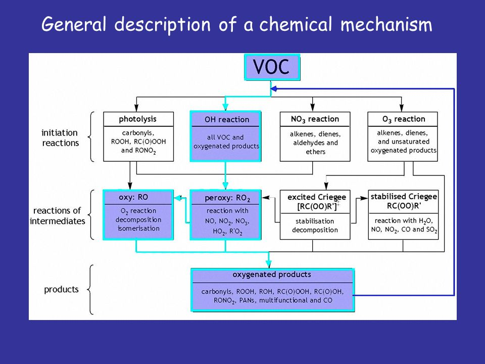 General description of a chemical mechanism