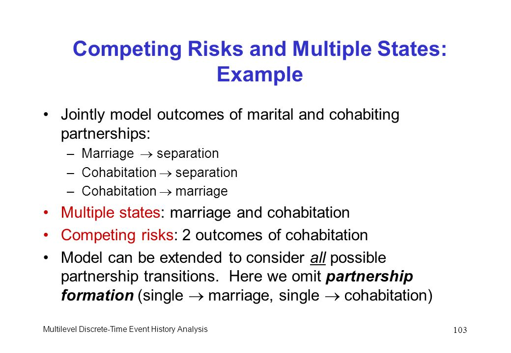 Competing Risks and Multiple States: Example