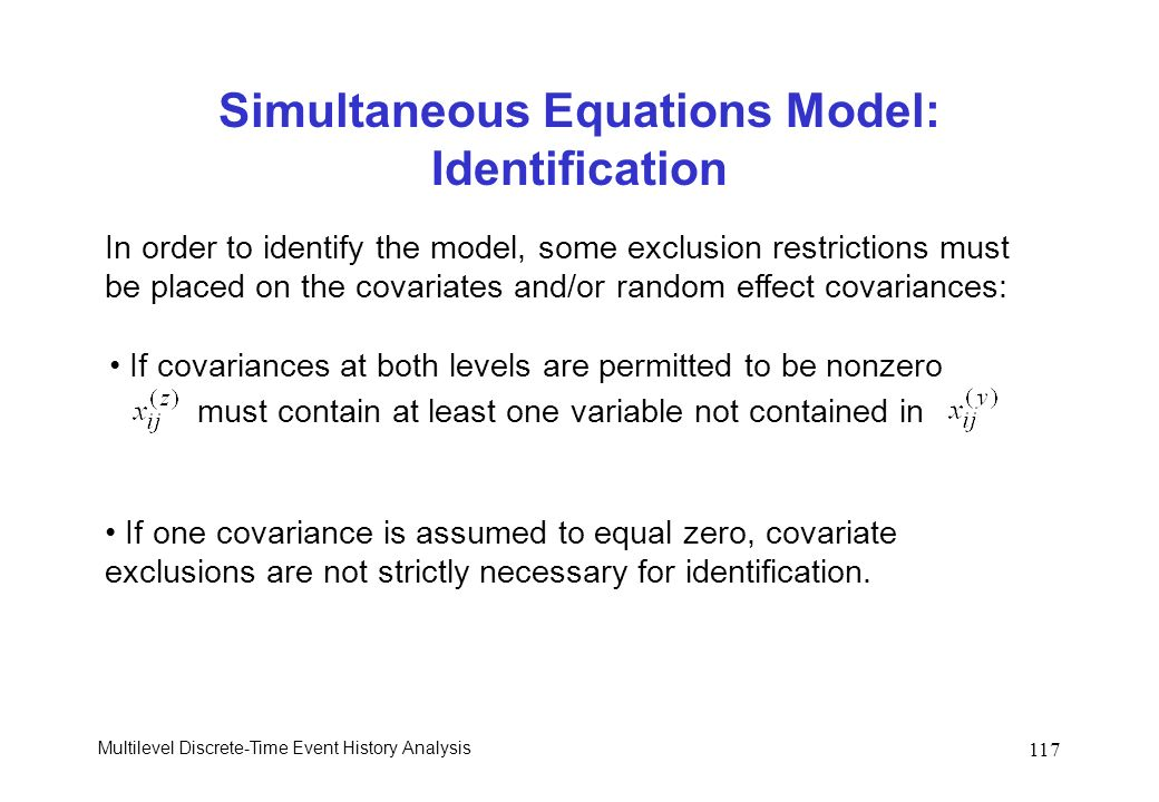Simultaneous Equations Model: Identification
