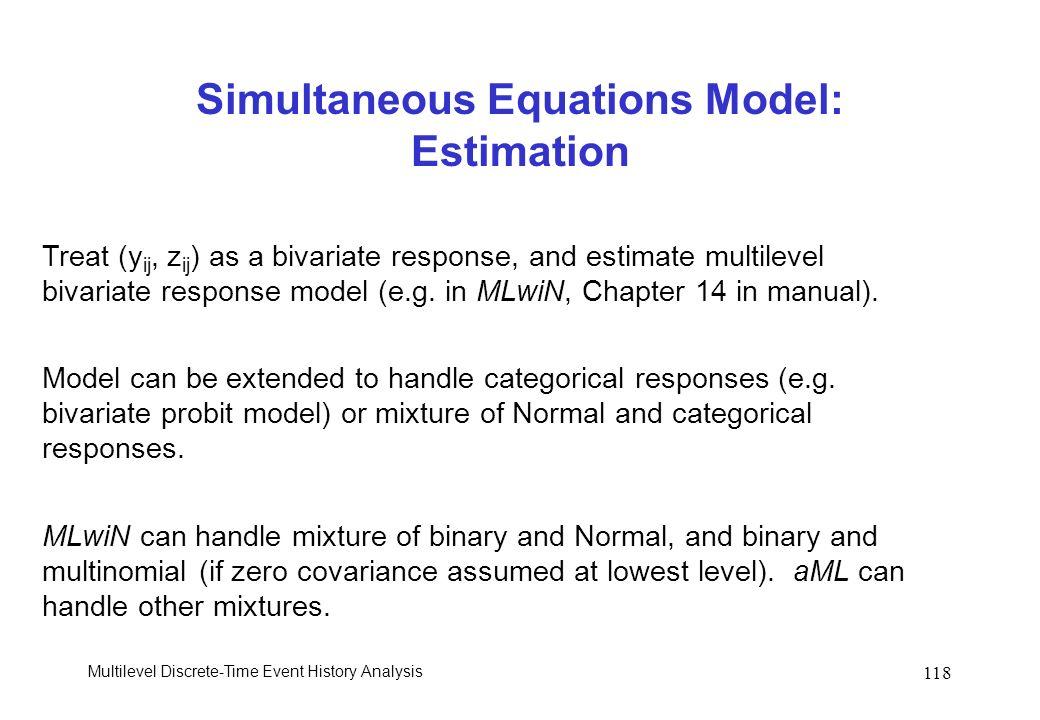 Simultaneous Equations Model: Estimation