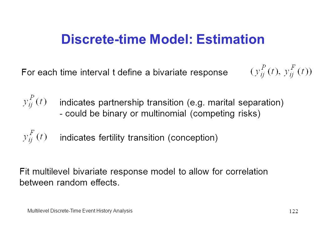 Discrete-time Model: Estimation