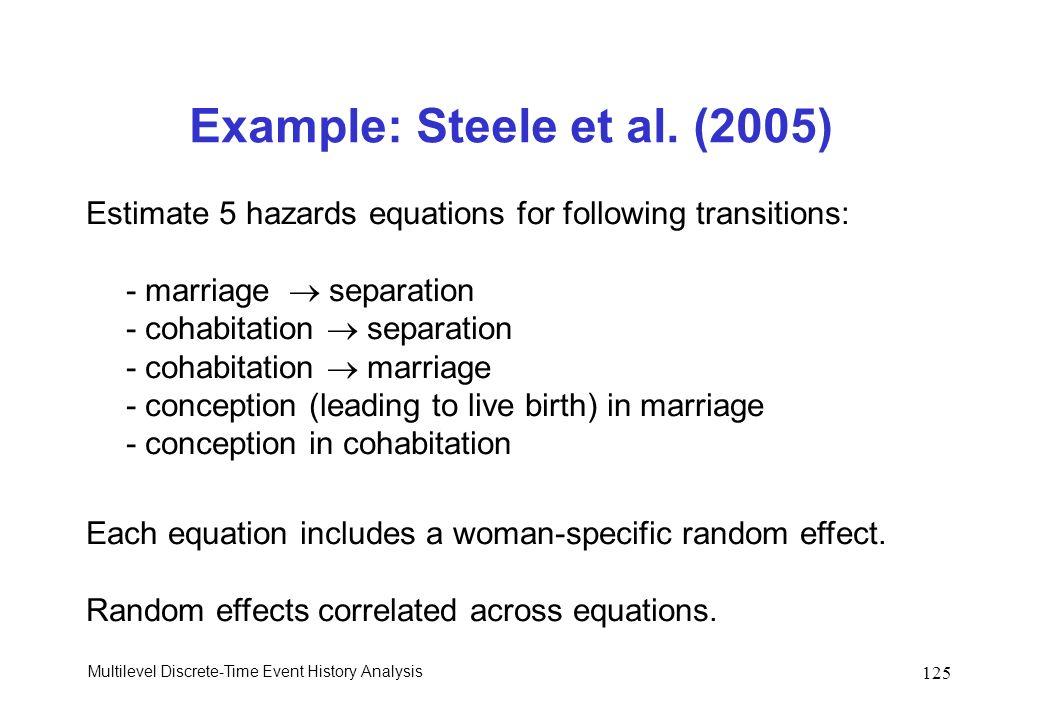 Example: Steele et al. (2005)
