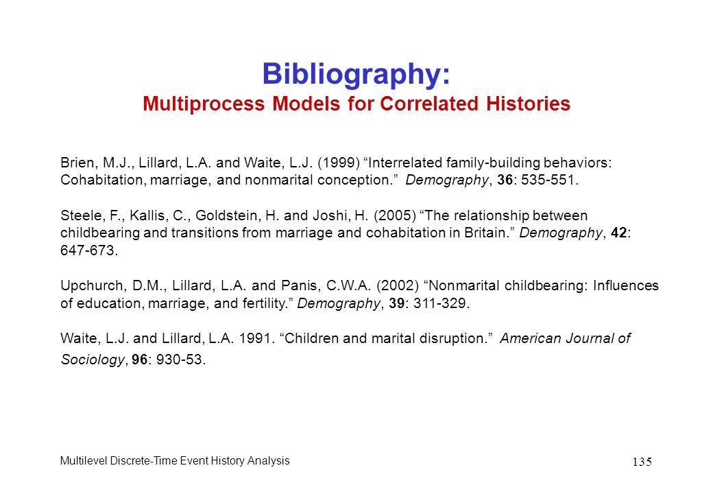 Bibliography: Multiprocess Models for Correlated Histories
