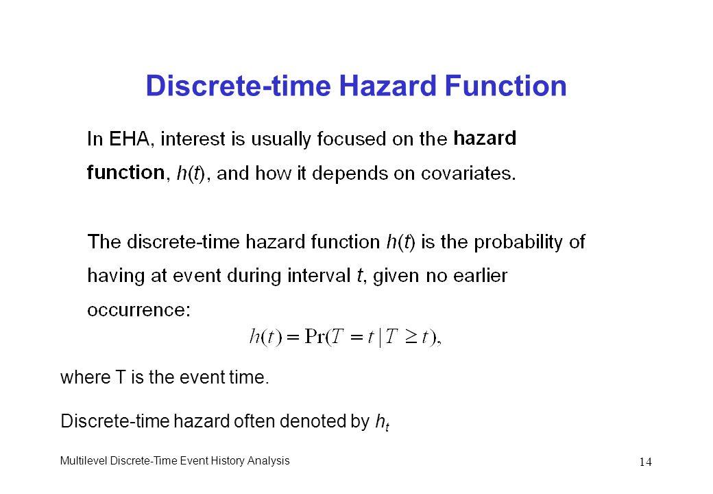 Discrete-time Hazard Function