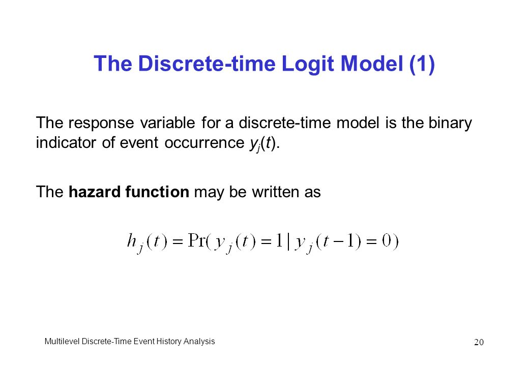 The Discrete-time Logit Model (1)