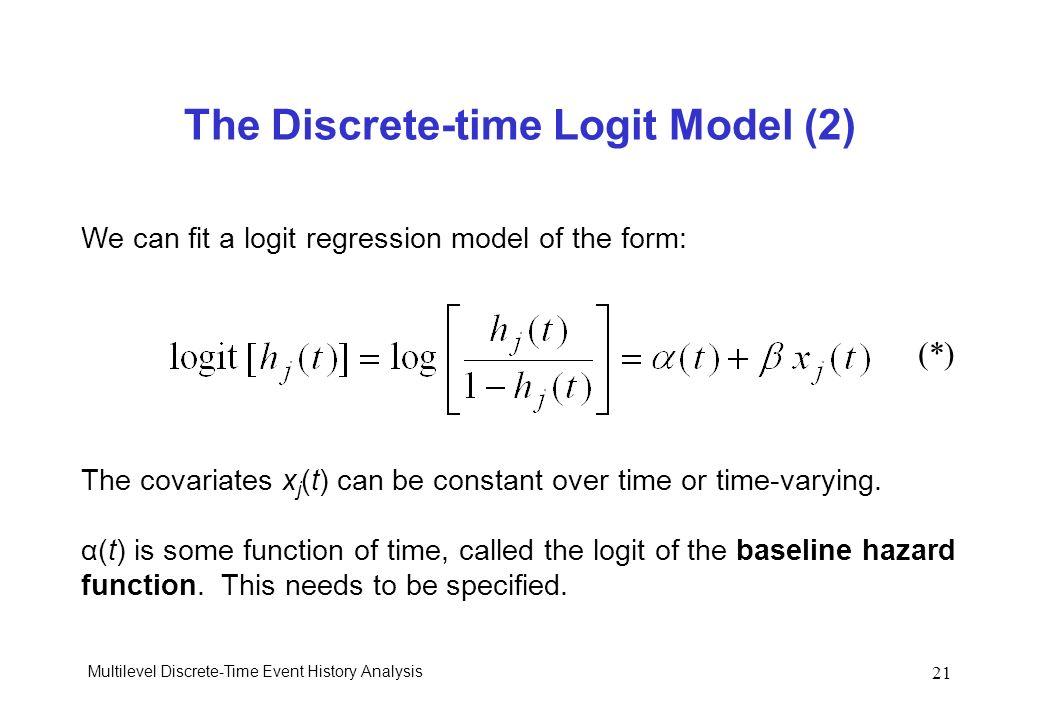 The Discrete-time Logit Model (2)