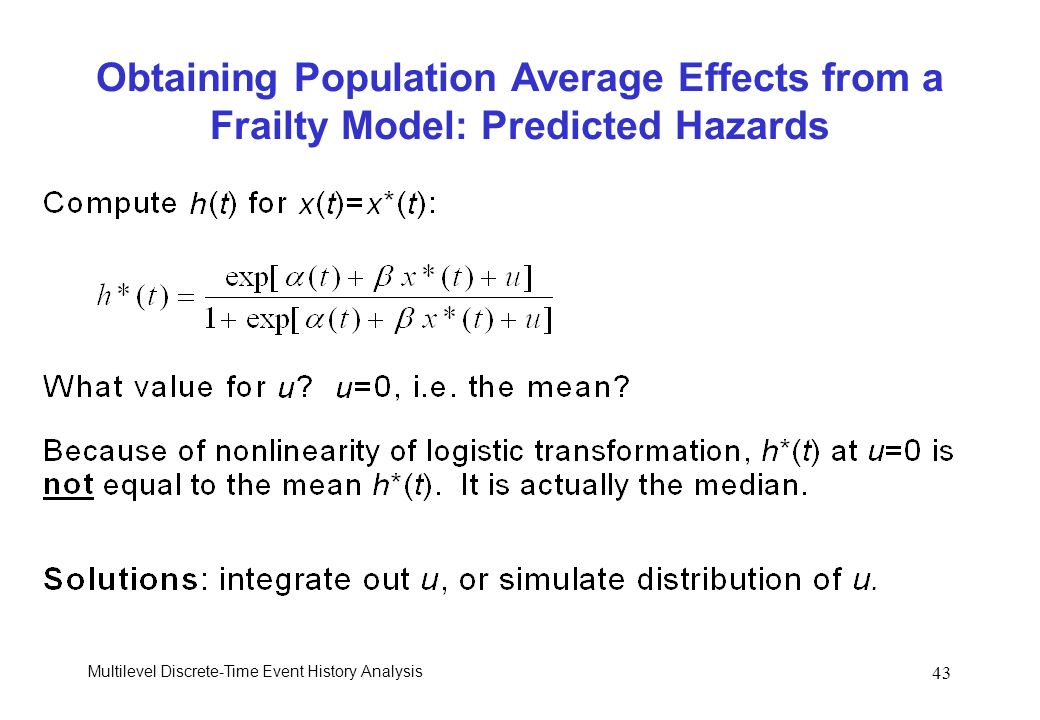 Obtaining Population Average Effects from a Frailty Model: Predicted Hazards
