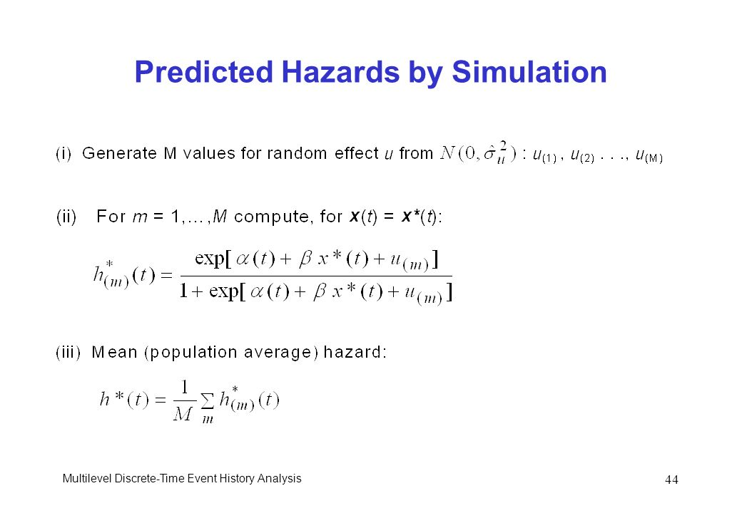 Predicted Hazards by Simulation