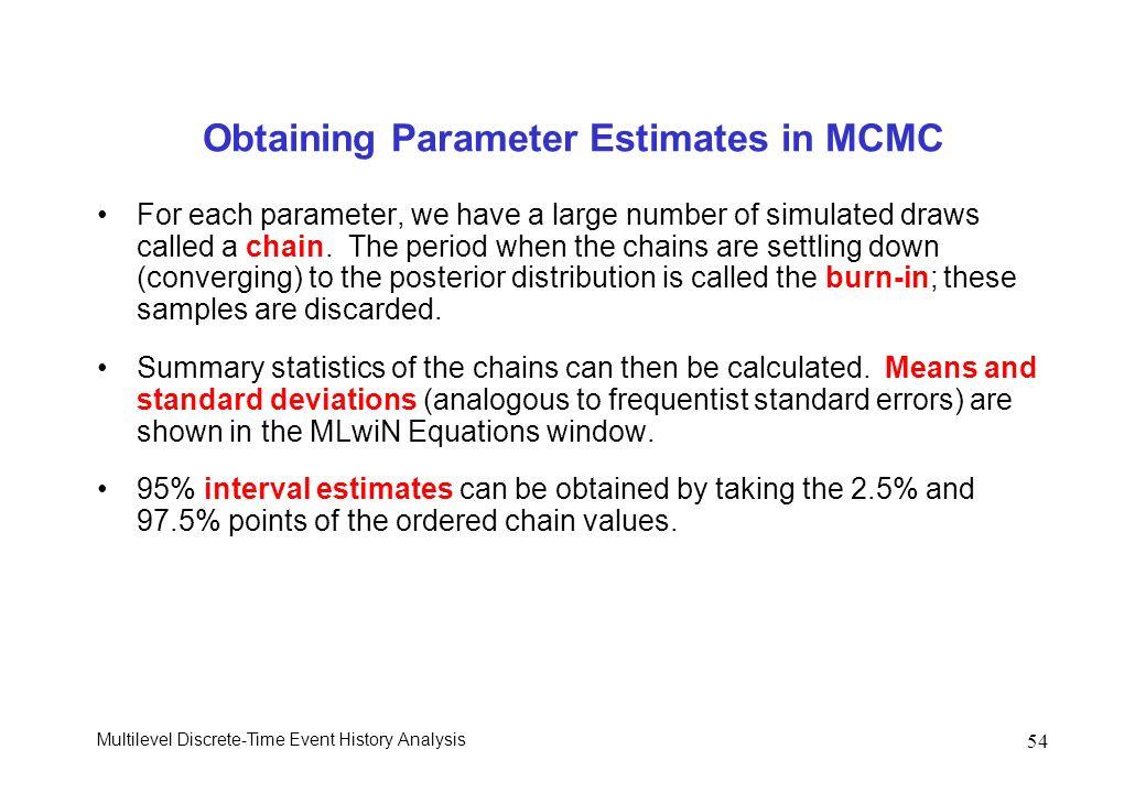 Obtaining Parameter Estimates in MCMC