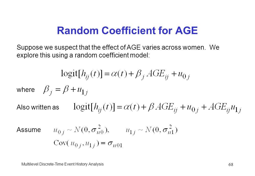 Random Coefficient for AGE