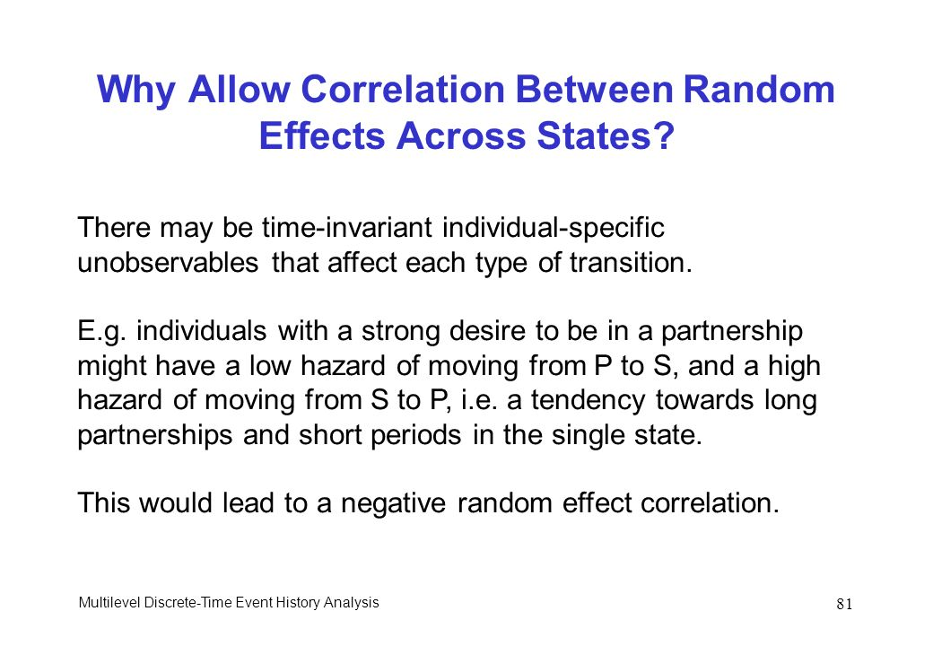 Why Allow Correlation Between Random Effects Across States