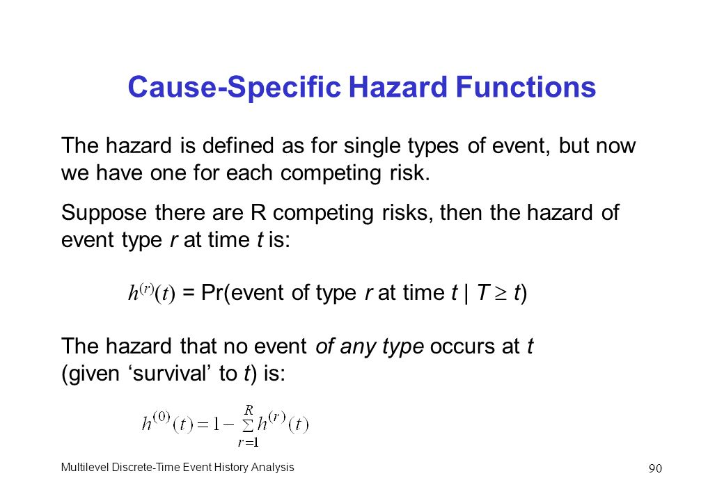 Cause-Specific Hazard Functions