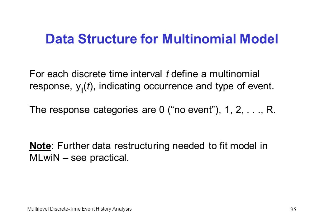 Data Structure for Multinomial Model