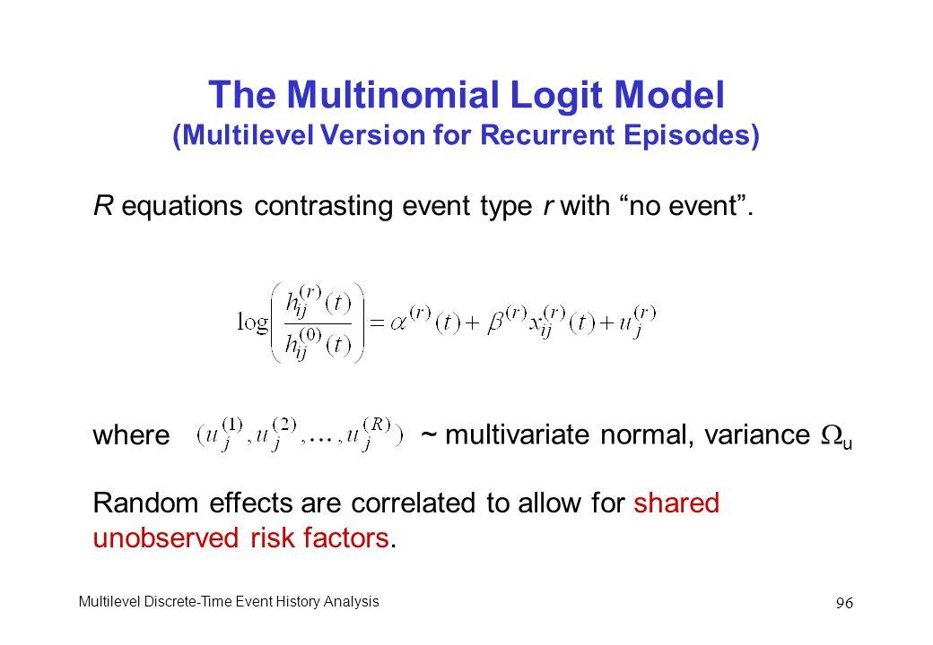 The Multinomial Logit Model (Multilevel Version for Recurrent Episodes)