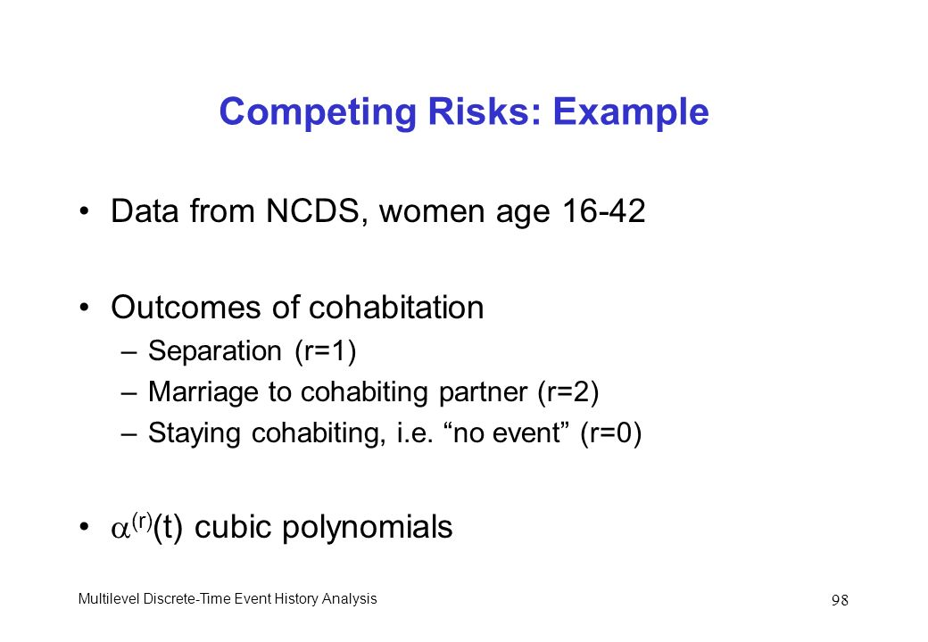 Competing Risks: Example