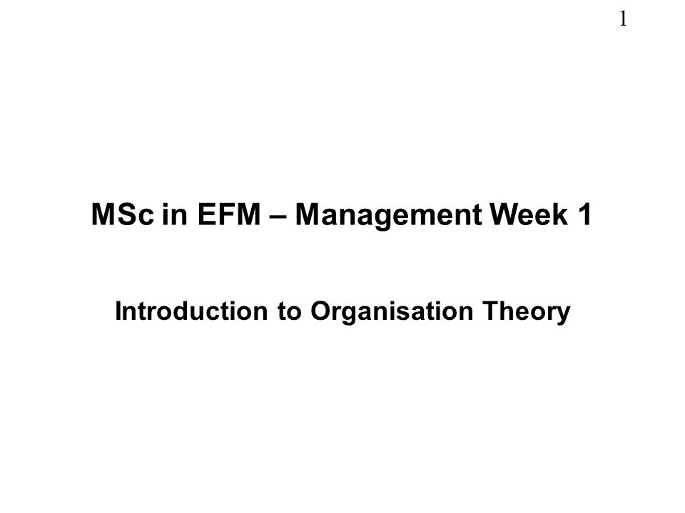 management theory for michael oleary