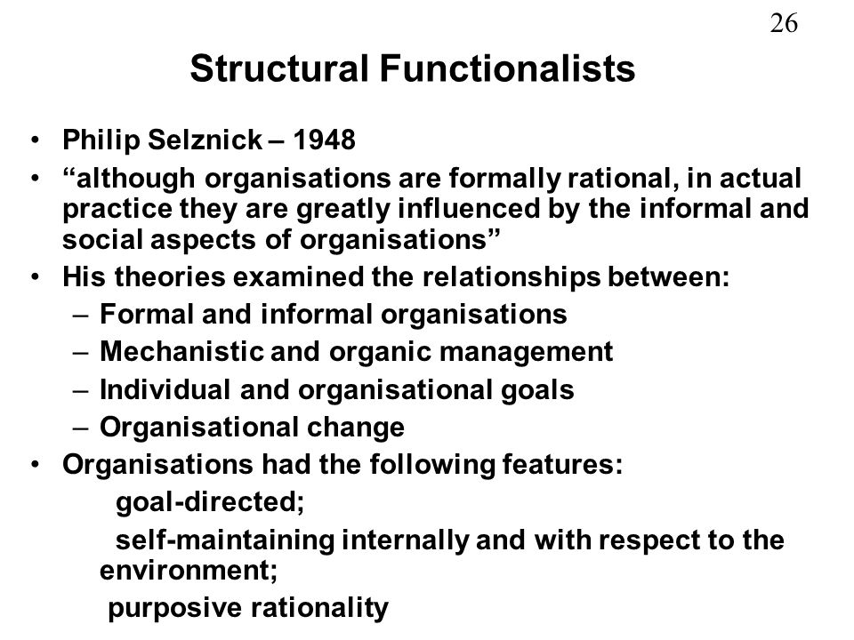 Structural Functionalists