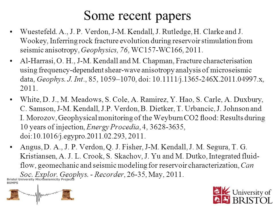 Some recent papers