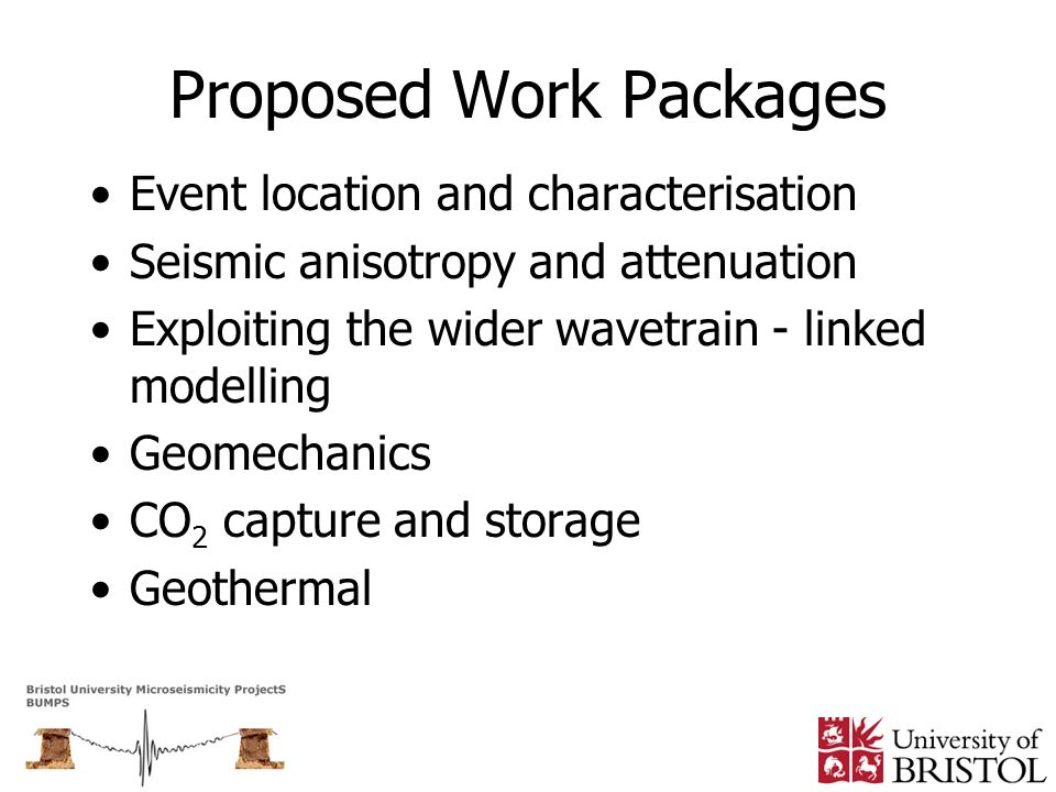 Proposed Work Packages