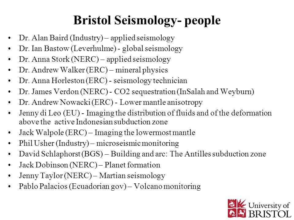 Bristol Seismology- people