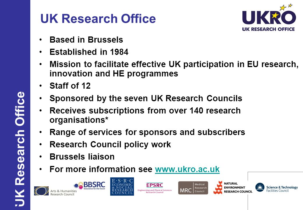 UK Research Office UK Research Office Based in Brussels