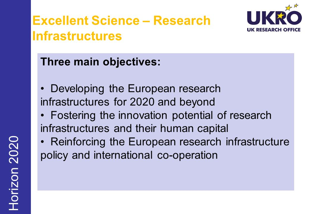 Excellent Science – Research Infrastructures