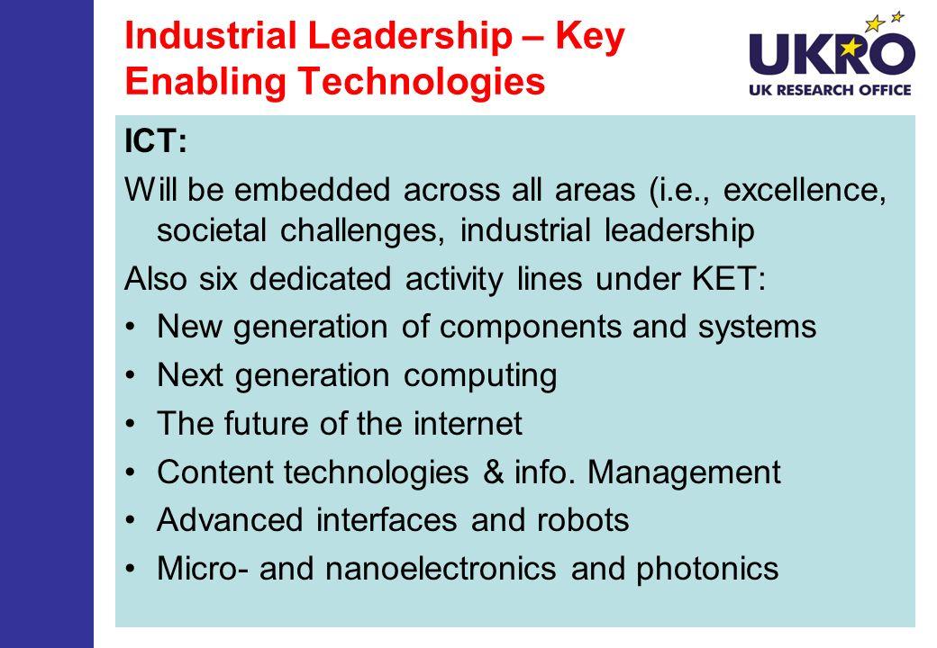 Industrial Leadership – Key Enabling Technologies