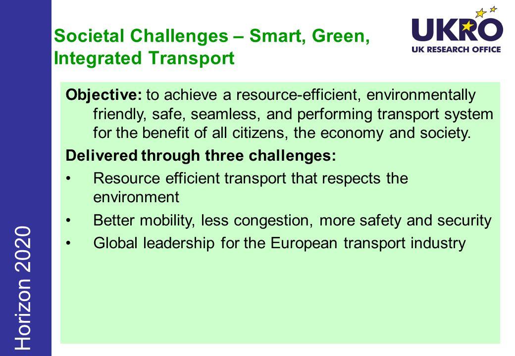 Societal Challenges – Smart, Green, Integrated Transport