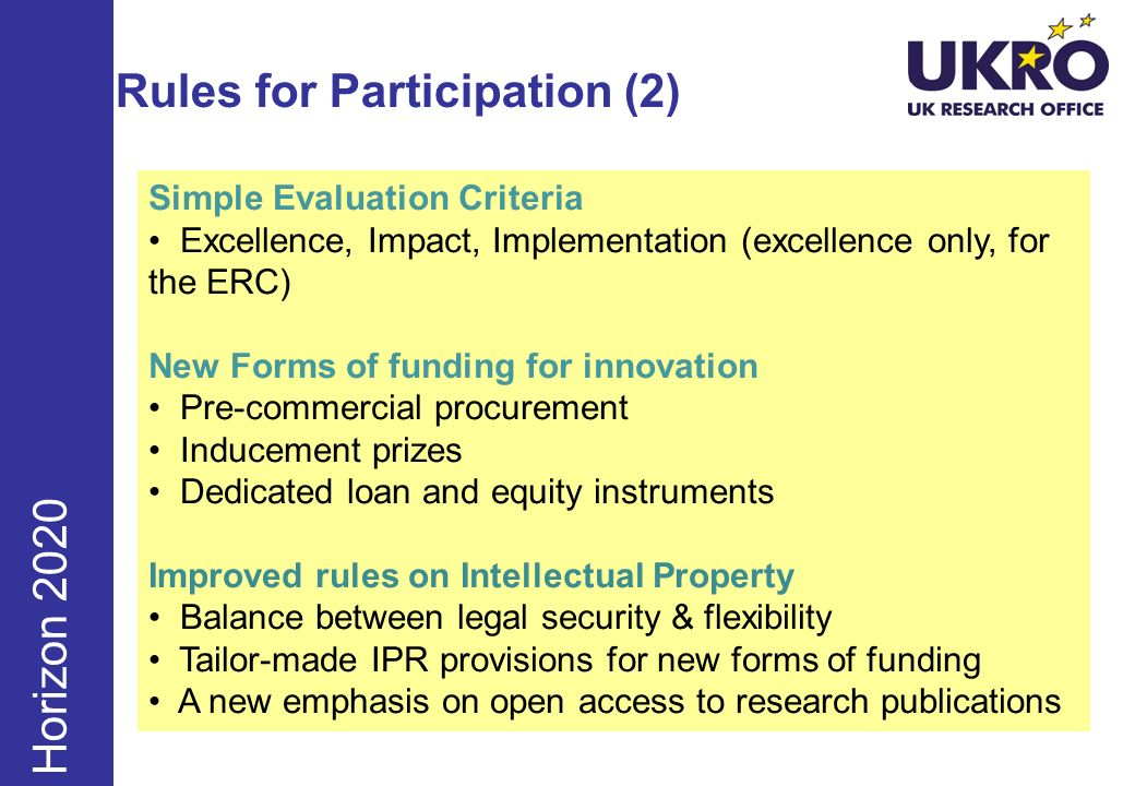 Rules for Participation (2)