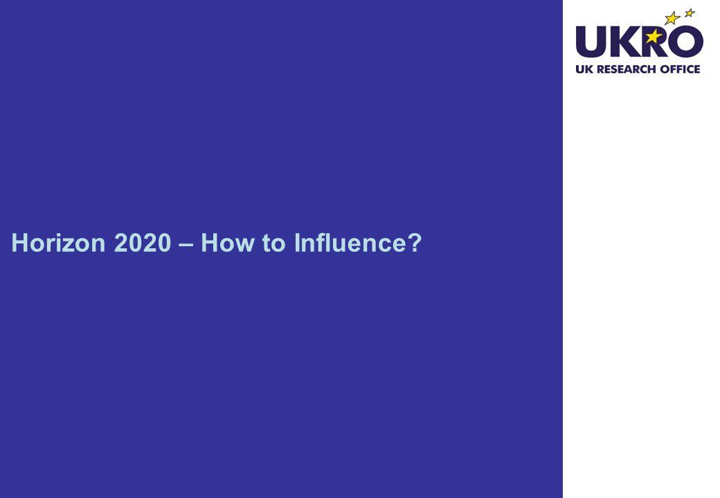Horizon 2020 – How to Influence