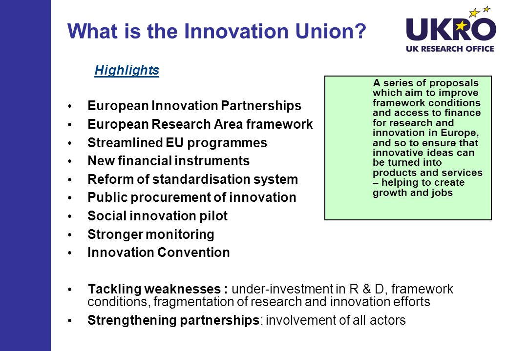 What is the Innovation Union