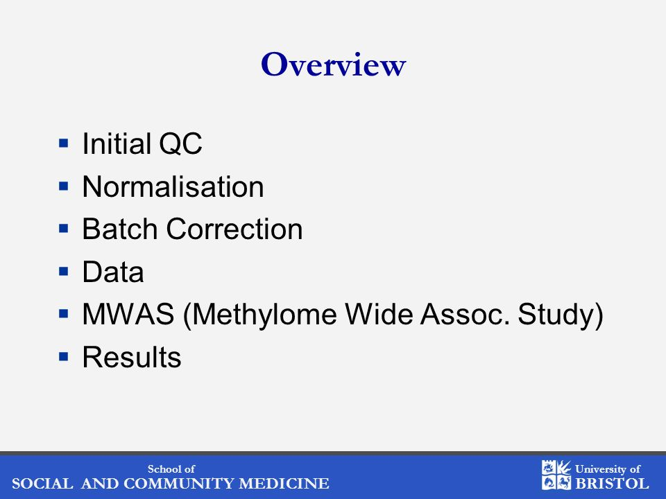 Overview Initial QC Normalisation Batch Correction Data
